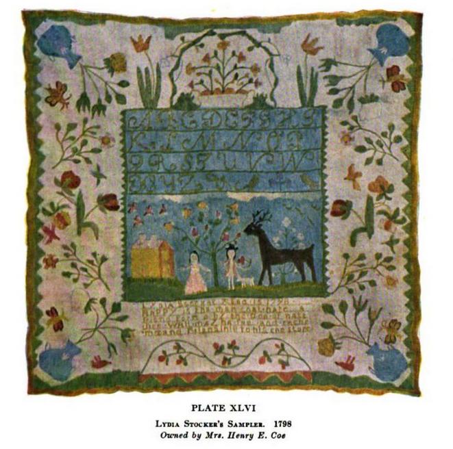 Lydia Stocker's sampler 1798