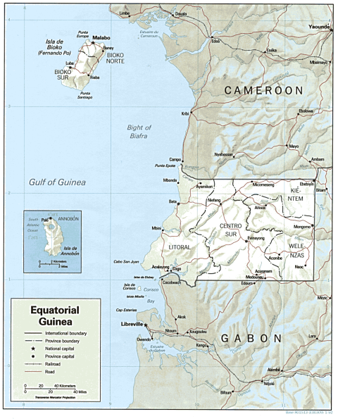 Map of Equatorial Guinea demonstrating the previous paragraph