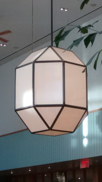 a polyhedral ceiling lamp with 26 faces